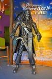 Jack Sparrow statue in Key West, Florida. Metal Jack Sparrow statue in Believe It or Not museum in Key West, Florida, USA Royalty Free Stock Photos