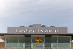 Jack Trice Football Stadium all'università di Stato di Iowa Immagini Stock Libere da Diritti