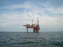 Jack-up drilling platform in the Bohai Sea stock image