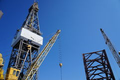 Jack up drilling rig Petroleum Industry Stock Photos