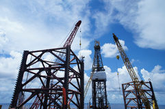 Jack Up Offshore Drilling Rig Stock Images