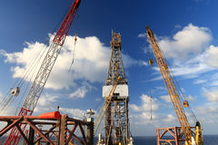Jack Up Offshore Drilling Rig Stock Photo