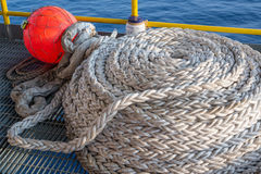 Jack up oil rig's buoy rope Stock Photos