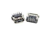 Jack USB, штепсельная вилка, гнездо, соединитель для тетради компьтер-книжки, общего обломока интерфейса Стоковое фото RF