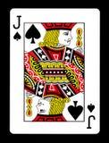 Jack van spadesspeelkaart, Stock Afbeelding