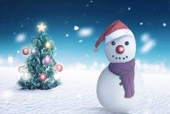 Jack vorst met de achtergrond van de Kerstmisboom Stock Afbeeldingen