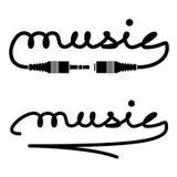 Jack włączników muzyki kaligrafia Zdjęcie Royalty Free