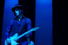 Jack White in Concert Royalty Free Stock Images