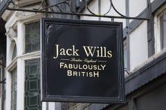 Jack Wills Shop arkivfoto
