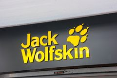 Jack Wolfskin logo Royalty Free Stock Photos