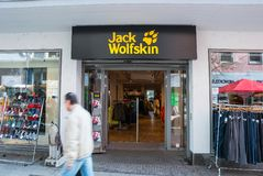 Jack Wolfskin store Royalty Free Stock Images