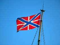 Jack (naval flag) and fortress flag Stock Photo