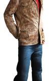 Jacke u. Jeans Stockbild