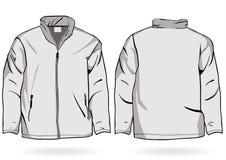 Jacken- oder Sweatshirtschablone der Männer mit Reißverschluss