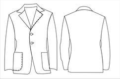Jacket. A vector illustration of unisex jackets for all kind of future design stock illustration