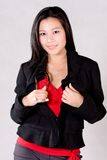 Jacket. A doctor in her casual wear Stock Photo
