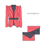 Jacket with bags. Royalty Free Stock Photography