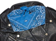 Jacket and bandana blue 1 Royalty Free Stock Images