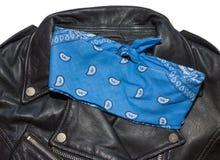 Jacket and bandana blue Royalty Free Stock Image