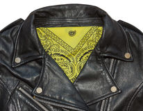 Jacket and bandana yellow Stock Photography
