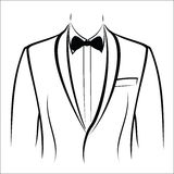 Jacket and bow tie Royalty Free Stock Images