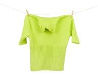 Jacket on a clothesline Stock Photos