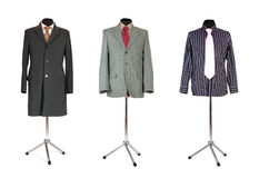 Jacket coat and shirt with tie on dummy Royalty Free Stock Image