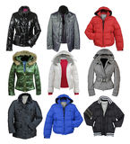 Jacket collection Stock Images