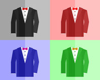 Jacket in four color schemes Stock Photos