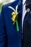 Jacket of groom Royalty Free Stock Image