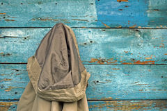 Jacket hanging on a wall Royalty Free Stock Image