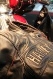 Jacket. Harley-Davison Leather Jacket Bike Stock Photos