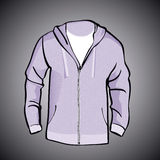 Jacket  with Hood  or sweatshirt  template Stock Images
