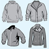 Jacket,hoodie,coats or sweatshirt template Stock Image