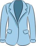 Jacket. Illustration of man blue jacket, isolated Royalty Free Stock Images