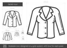 Jacket line icon. Royalty Free Stock Photography