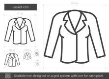 Jacket line icon. Stock Photos