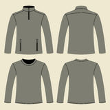 Jacket and Long-sleeved T-shirt template Stock Image