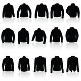 Jacket for man and women in black silhouette Stock Photos