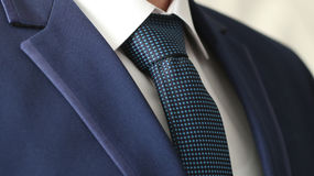 Jacket men's shirt with a blue tie Stock Images