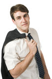 Jacket over the shoulder casual Stock Photos