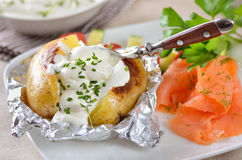 Jacket potato royalty free stock images