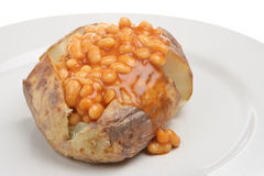 Jacket Potato with Baked Beans Stock Images