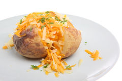 Jacket Potato with Cheese Royalty Free Stock Photos