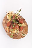 Jacket Potato. With Cheese and Beans Royalty Free Stock Images