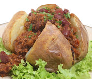 Jacket Potato with Chilli Royalty Free Stock Photos