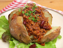 Jacket Potato with Chilli Stock Images