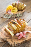 Jacket potato sliced Stock Images
