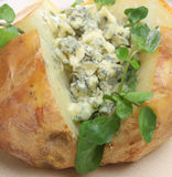 Jacket Potato with Stilton and Watercress Royalty Free Stock Images