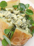 Jacket Potato with Stilton & Watercress Royalty Free Stock Images